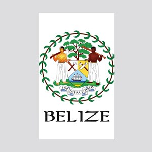 Belize Coat of Arms Rectangle Sticker