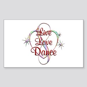 Live Love Dance Sticker (Rectangle)