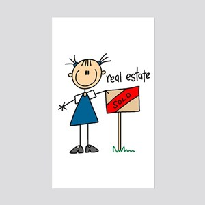 Real Estate Agent Rectangle Sticker
