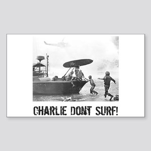 """Charlie Don't Surf"" Rectangle Sticker"