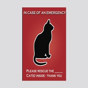 Cat Emergency Sticker Red