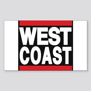 west coast red Sticker