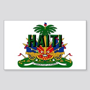 Haitian Coat of Arms Sticker (Rectangle)