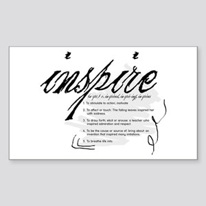 Inspire Sticker (Rectangle)
