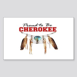 Proud to be Cherokee Sticker (Rectangle)