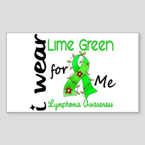 I Wear Lime 43 Lymphoma Sticker (Rectangle)
