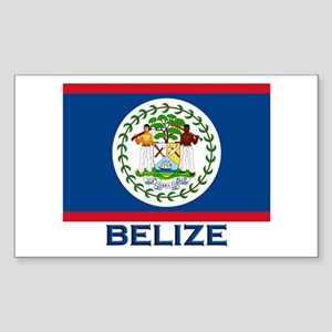 Belize Flag Merchandise Rectangle Sticker