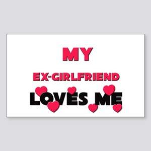 My EX-GIRLFRIEND Loves Me Rectangle Sticker
