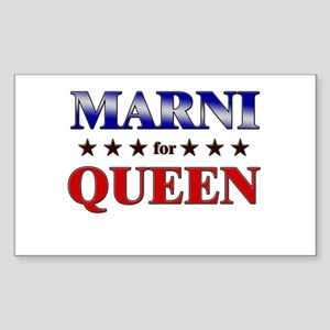 MARNI for queen Rectangle Sticker