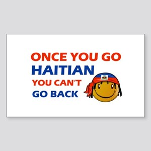 Haitian smiley designs Sticker (Rectangle)