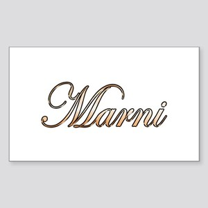 Gold Marni Sticker
