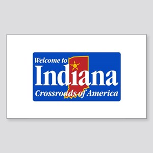 Welcome to Indiana - USA Rectangle Sticker