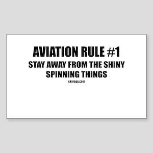 AVIATION RULE #1 Rectangle Sticker
