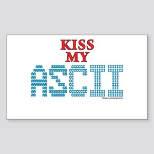 Ascii Rectangle Stickers Cafepress