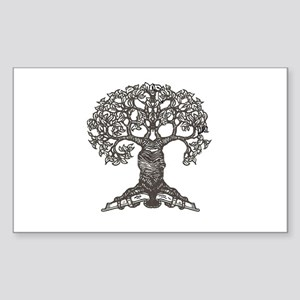 The Reading Tree Rectangle Sticker