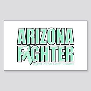 Arizona Ovarian Cancer Fighter Sticker (Rectangle)