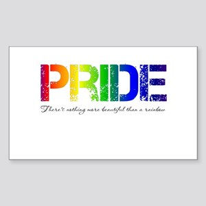 Pride Rainbow Sticker (Rectangle)