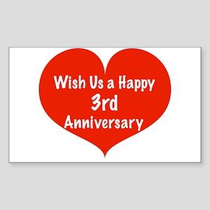 Third Wedding Anniversary.Third Wedding Anniversary Stickers Cafepress