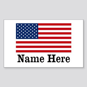 Personalized American Flag Sticker
