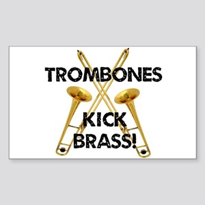 Trombones Kick Brass Sticker
