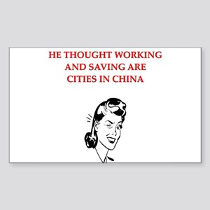 christmas divorce joke gifts Sticker (Rectangle)