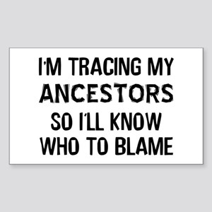 Funny Genealogy Sticker (Rectangle)