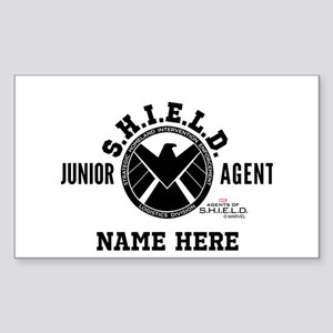 Personalized Junior SHIELD Age Sticker (Rectangle)