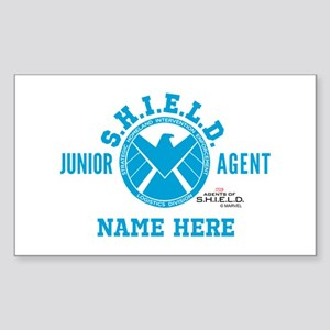 Blue Personalized Junior SHIEL Sticker (Rectangle)