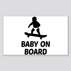 Baby On Board Pun Sticker (Rectangle)
