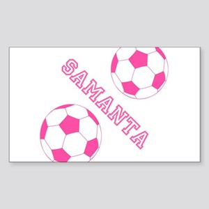Soccer Girl Personalized Sticker