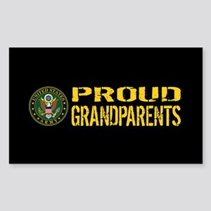 U.S. Army: Proud Grandparents Sticker (Rectangle)