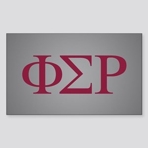 Phi Sigma Rho Letters Sticker (Rectangle)