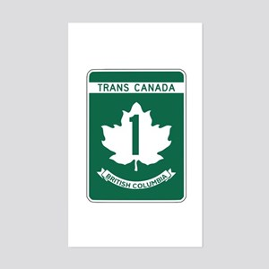 Trans-Canada Highway, British Columbia Sticker (Re