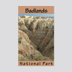 Badlands NP (Vertical) Rectangle Sticker