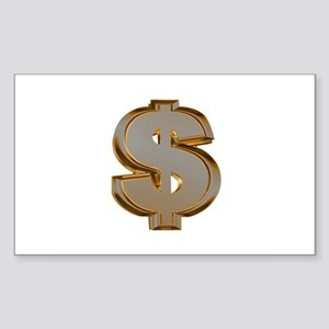 Dollar Signs Rectangle Sticker