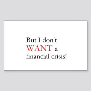Financial Crisis Rectangle Sticker