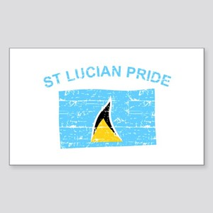 St Lucian Pride Sticker (Rectangle)