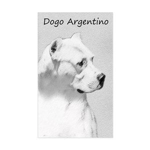 Dogo Argentino Sticker Rectangle