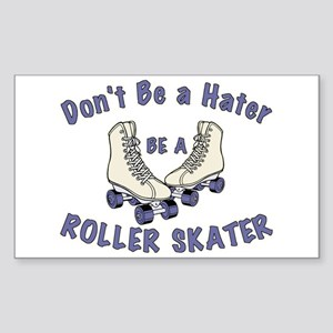 Not a Hater Roller Skater Sticker (Rectangle)