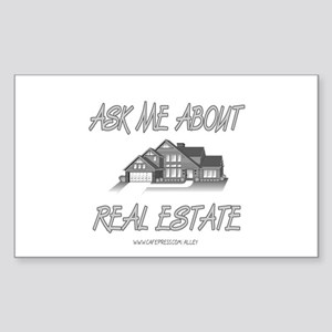 Ask About Real Estate Rectangle Sticker
