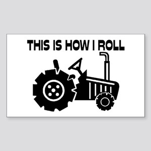 This Is How I Roll Farming Tra Sticker (Rectangle)