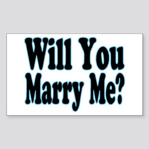 Will You Marry Me? His Rectangle Sticker