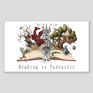 Reading is Fantastic II Sticker (Rectangle)