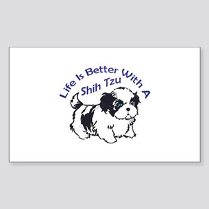 BETTER WITH SHIH TZU Sticker