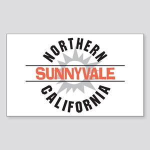 Sunnyvale California Rectangle Sticker