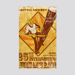 power lineman electrician repa Sticker (Rectangle)