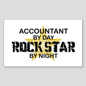 Accountant RockStar Rectangle Sticker