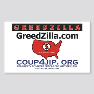 Greedzilla Map Sticker (Rectangle)
