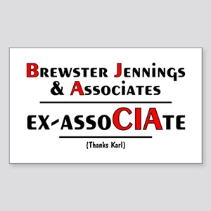 Brewster Jennings & AssoCIAte Sticker (Rectangular