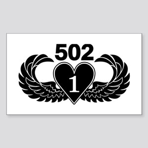 1-502 Black Heart Sticker
